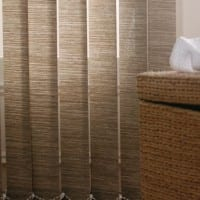 Bathroom detail Vertical Blinds