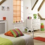 Orange-venetian Pleated Blinds