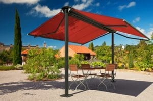 Double sided awning